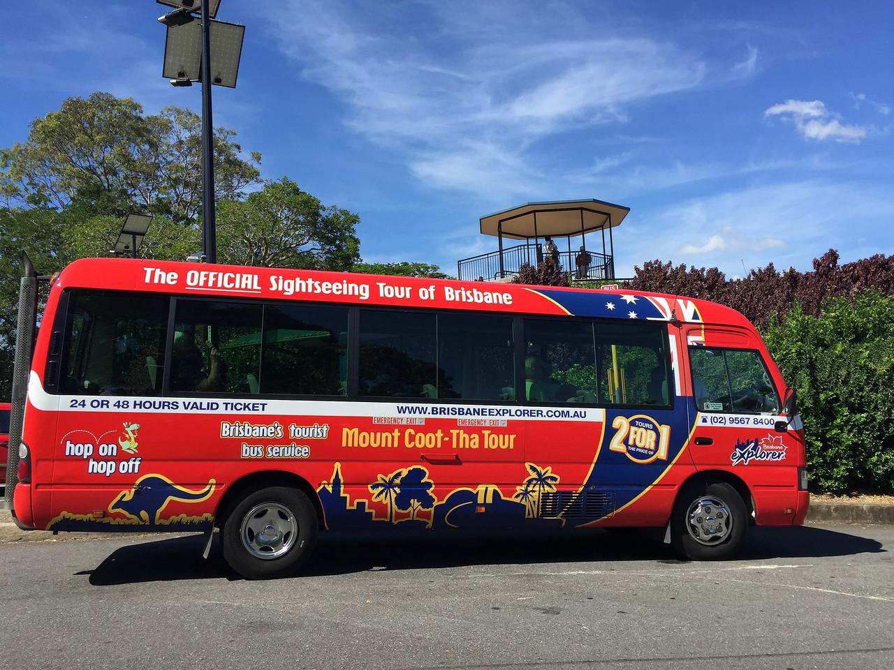 Hop on hop off bus in Brisbane
