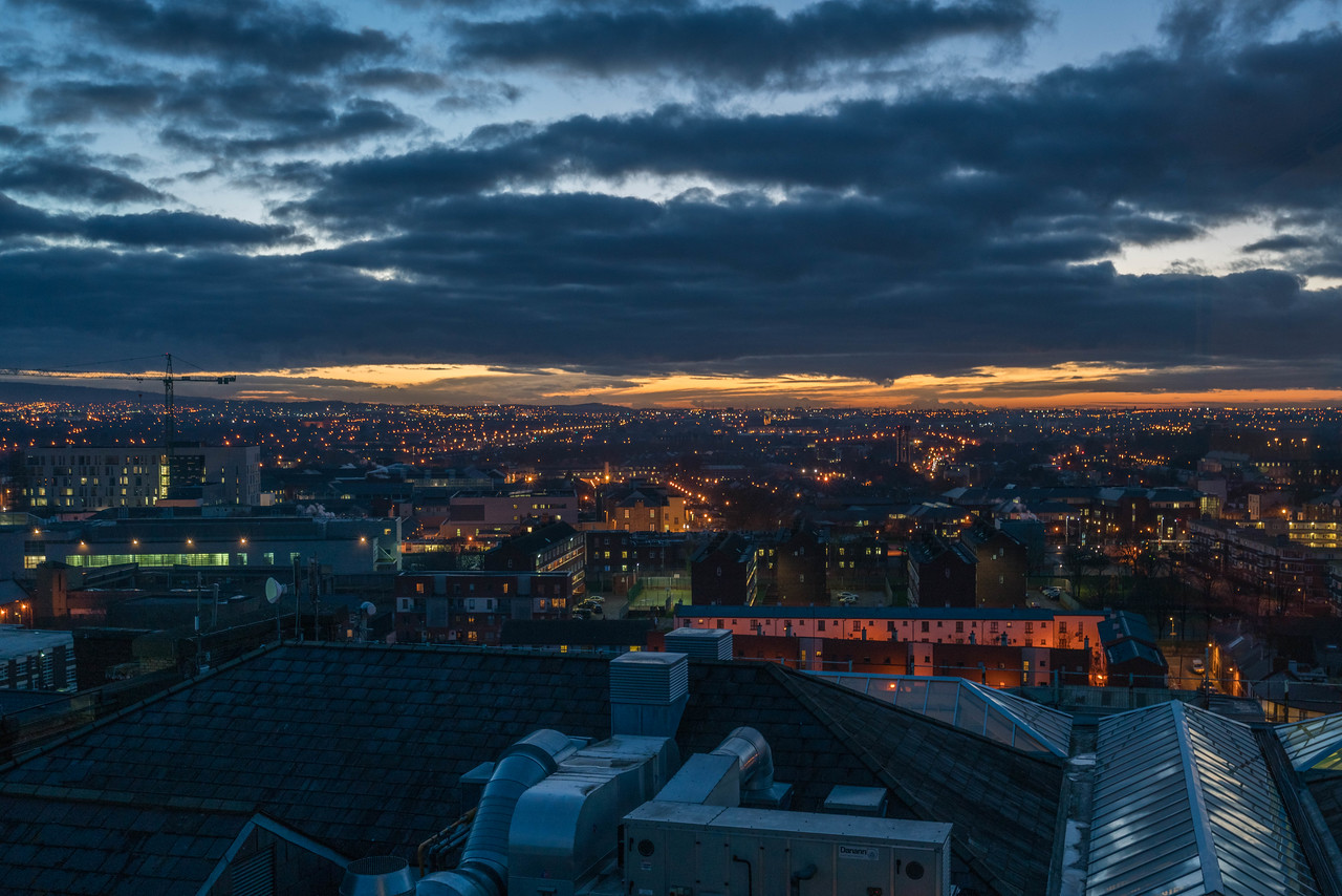 View from the Gravity Bar on to of the Guinness Storehouse
