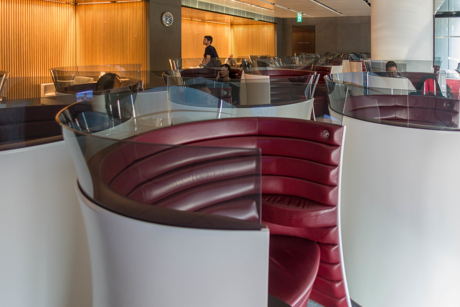 The Cathay Pacific lounge offers a little bit of sanctuary before your flight