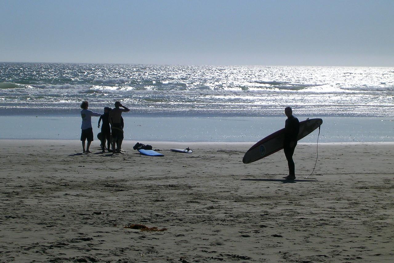 surfing in Tofino Canada