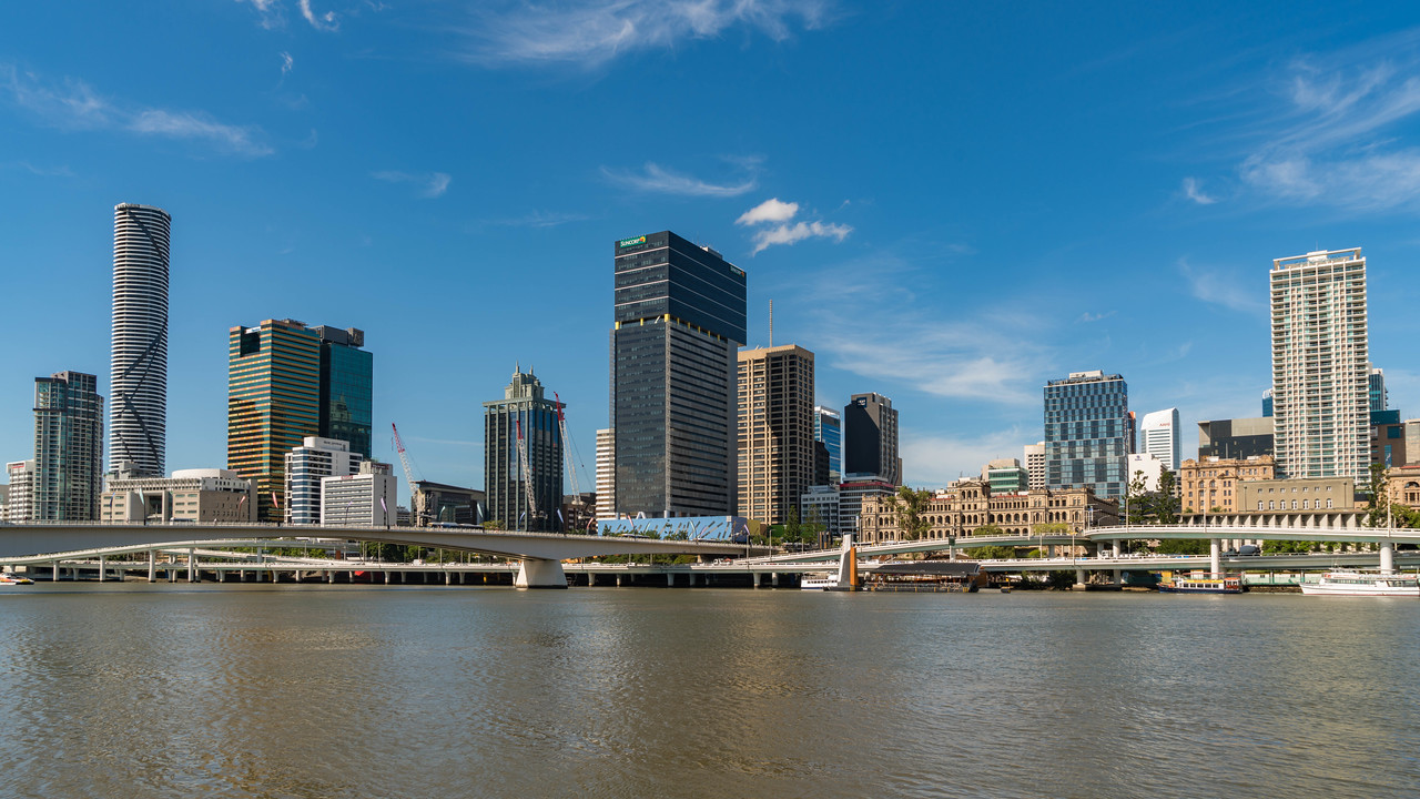 View from South Bank in Brisbane Australia