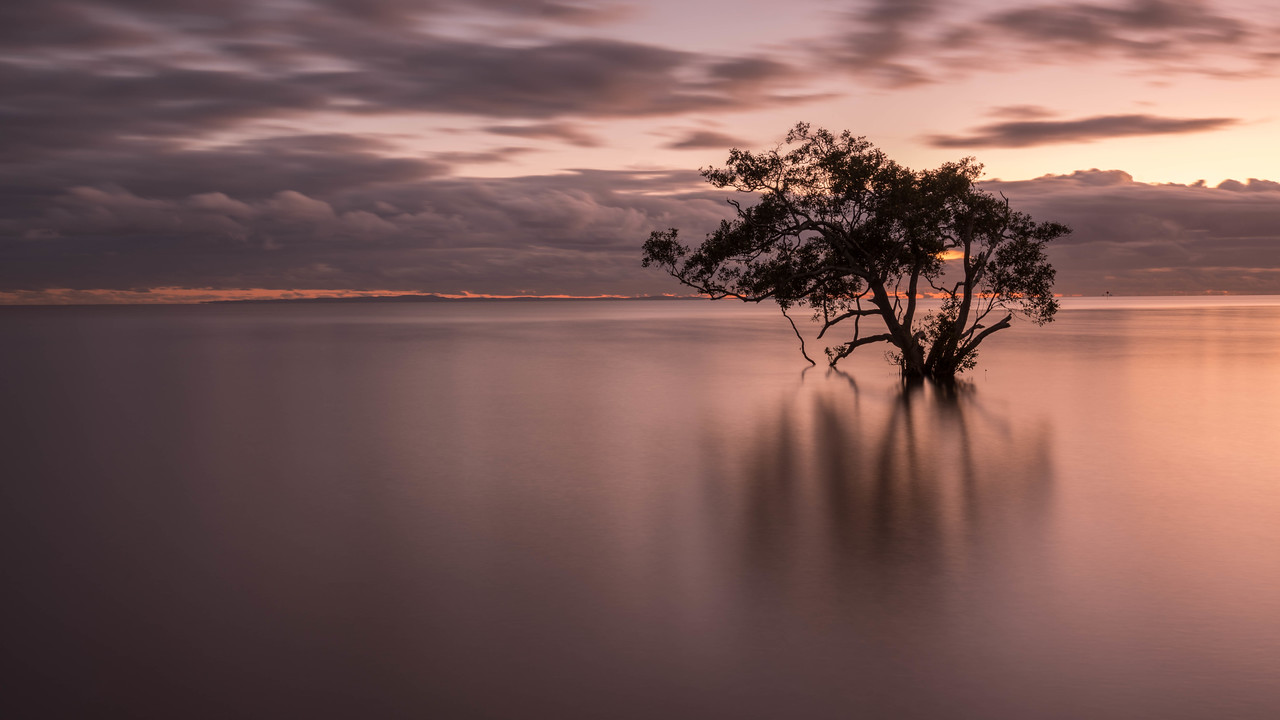 Nudgee Beach at sunrise just outside of Brisbane