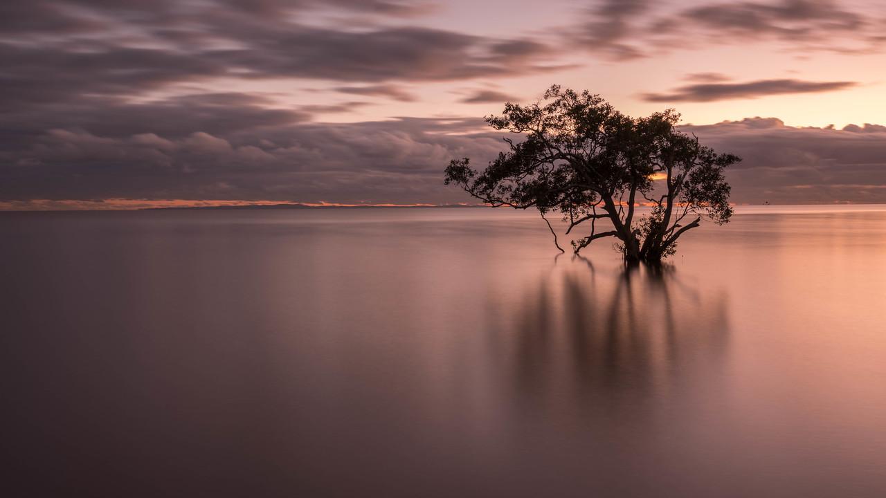 Nudgee Beach sunrise in Brisbane, Australia