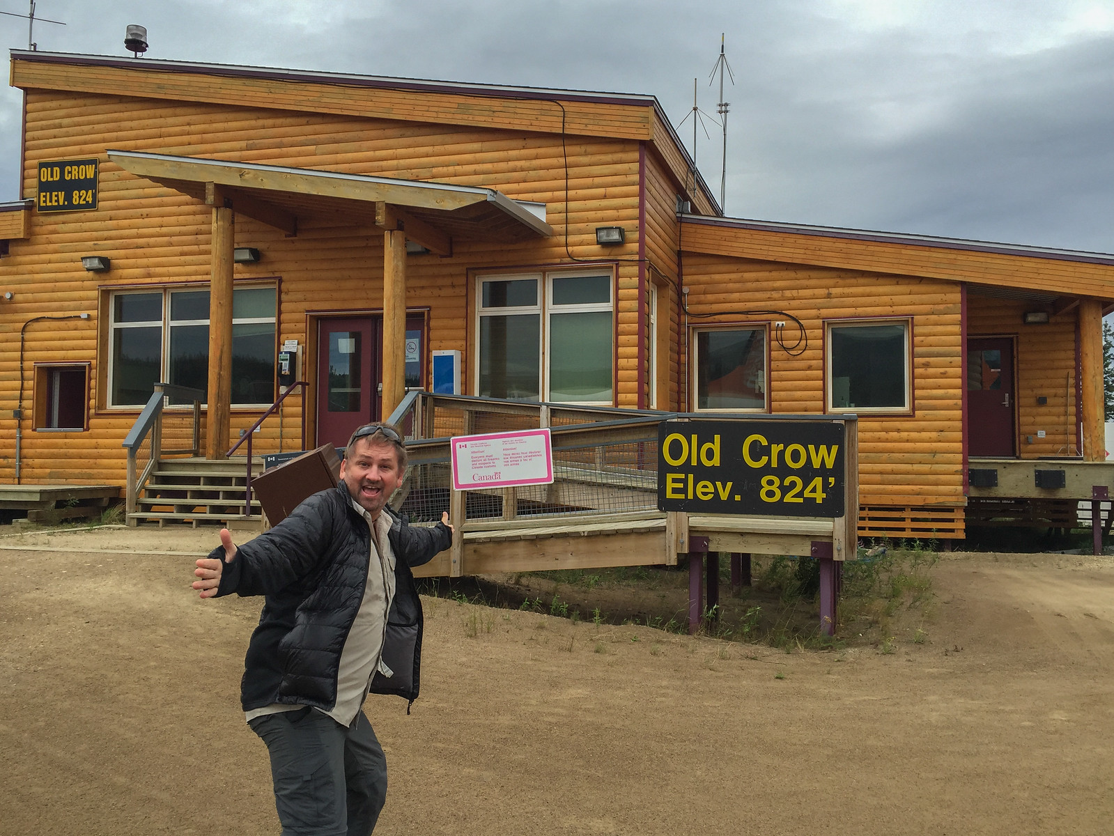 Last Stop...Old Crow, Yukon, Canada, before Inuvik.