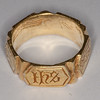 medieval iconographic ring in silver-gilt