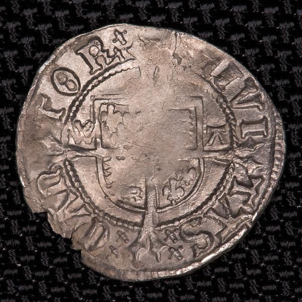 Henry VIII half groat reverse, Canterbury mint, Seaby SE2343 6206