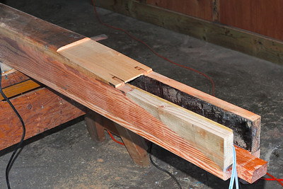 The scarfed joint is ready to be glued to its counterpart with West 105 epoxy.