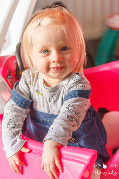 Toddler with blonde hair