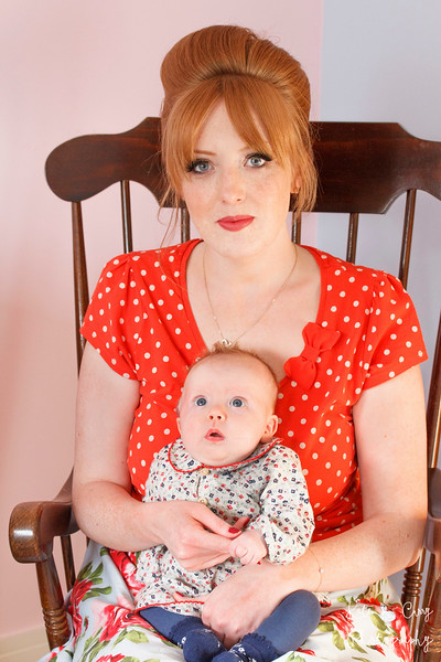 Mother and baby, vintage photo shoot, Glasgow