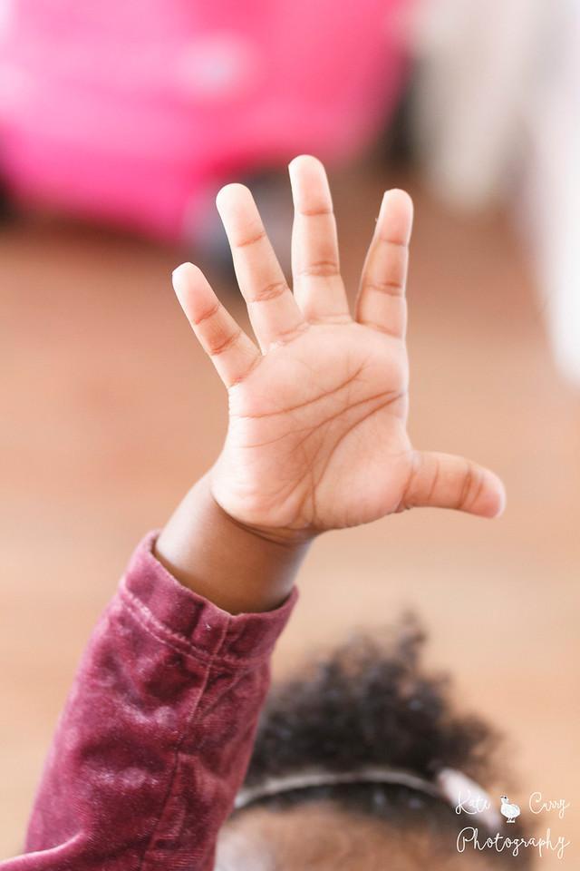 Toddler's hand, Glasgow
