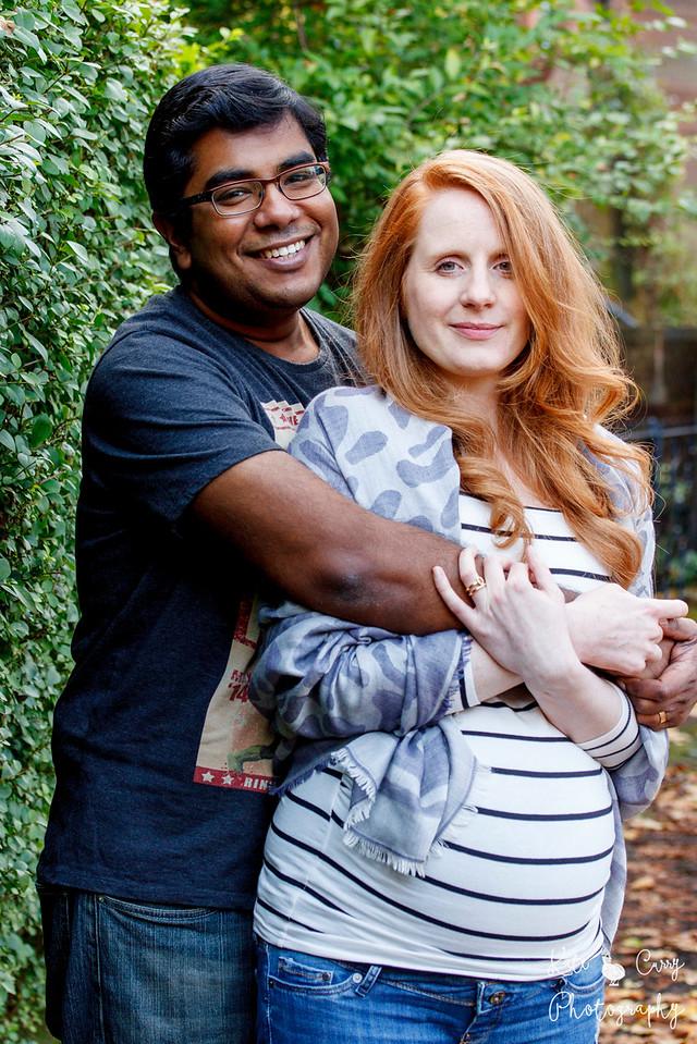 Expectant couple, Glasgow