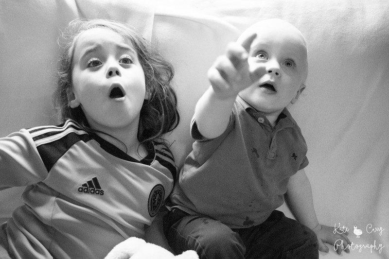 Children with amazed faces, Glasgow