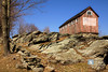 Sunday March 15, 2009<br /> <br /> An old barn on a stone foundation in Bridgewater, CT