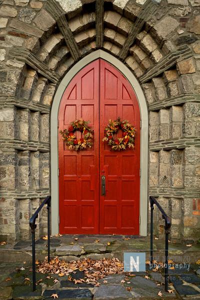 Wednesday October 21, 2009<br /> <br /> Church doors in Sandy Hook, CT.