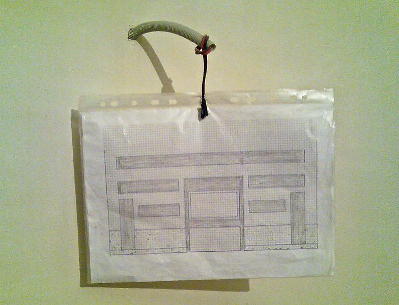 Proiectul pentru rafturile din gips carton.<br /> Desenul este la o scara de aprox 1:20