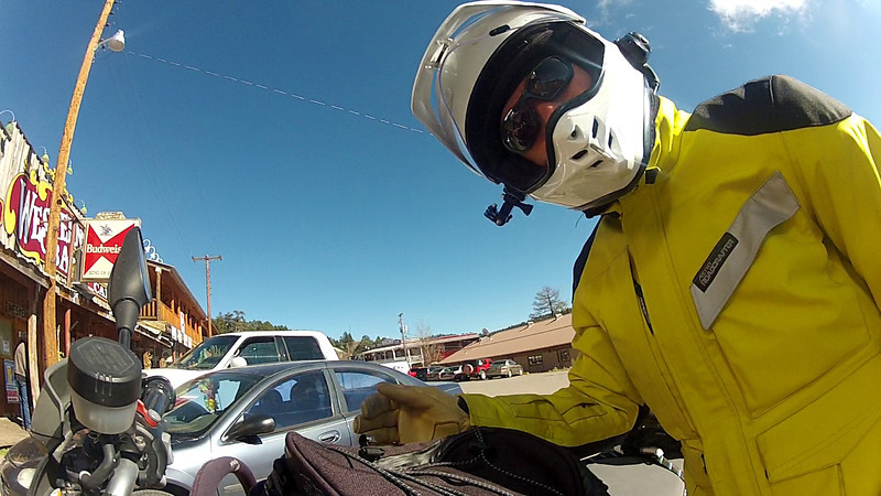 """Here's Looking At You - Cloudcroft, NM<br /> <br /> I'm still checking out what this little camera will do.  After yesterday's videos I've been working on a couple more.  One is supposed to be another video of me riding to Ruidoso but with an added stop in Cloudcroft.  Since it takes forever to edit these things, I decided to show off a little portion of what I shot here with this """"hello"""" shot I made leaving Cloudcroft.<br /> <br /> What I learned about today's efforts is when the manufacture says 2.5 hours of shooting he's not kidding.  That's pretty much how much """"on"""" time I had with this little camera.  That's not how much video I shot.  That's how long I had the camera on.  Unfortunately, it ran out of ummph just when I rolled into my destination in Ruidoso.  I'll have to video that on a later date.<br /> <br /> In the mean time, check out this video.<br /> <br /> Cheers<br /> <br /> Tom"""