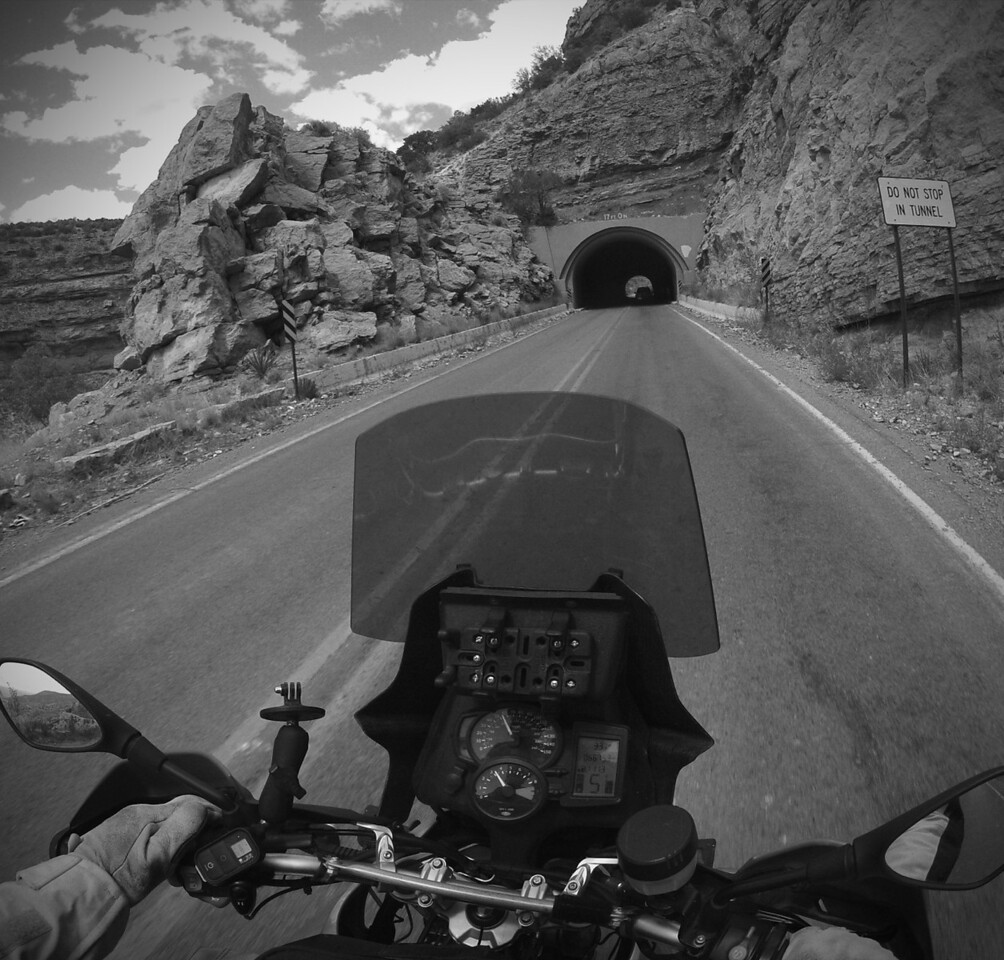 Motorcycle Ride - High Rolls, New Mexico<br /> <br /> The title image and this image right above were both shot using really recent technology.  The title image was made with my iPhone while attending a reunion.  I think I had a beer in one hand and the phone in the other.  <br /> <br /> The motorcycle image was shot with my GoPro helmet camera.  Obviously both my hands are firmly clutching the bike's handle bars.  I fired off the camera's shutter using that little trigger thingy next to my left thumb.<br /> <br /> Both the images were post processed using iOS compatible products on my iPad.  I picked these two images to showcase a few limits of what's possible with technology nowadays.  Of course this is just the surface.  The first is a slightly stylized/accented image with a goal of making it punch while retaining it's basic subtleness of the original image.  The second was simply a black and white filter applied with a little vignette given as well.<br /> <br /> Both these techniques are acceptable.  Whether their useful in all venues is probably not right.  The point of this is by embracing technology there are new opportunities to making your art unique.  Of course, any choices you make need to adhere to your own aesthetic which is completely up to you.<br /> <br /> Cheers again...<br /> <br /> Tom
