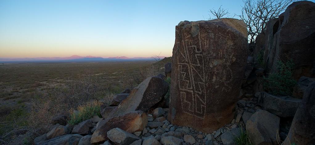 Petroglyph at Sunrise 2 - 6 April 2012