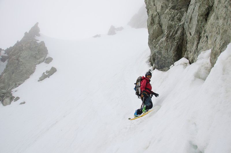 Regrouping after the crux upper section