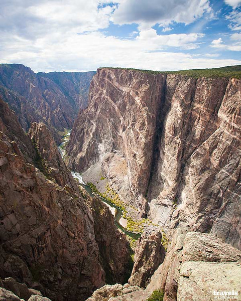 The Painted Wall in the Black Canyon of the Gunnison in Colorado (Photo: Kim Olson)
