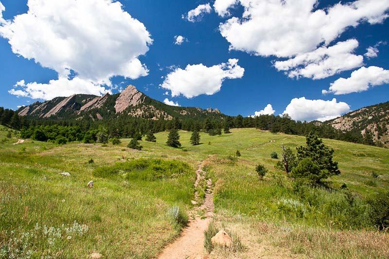 Hiking the Flatirons in Boulder, Colorado. (Photo: Kim Olson)