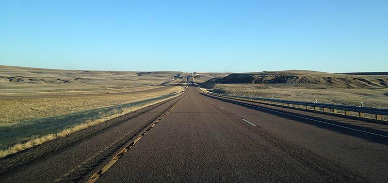 Driving wide open roads in Montana. (Photo: Kim Olson)