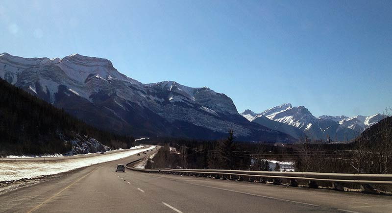 Driving into the Canadian Rockies from Calgary. (Photo: Kim Olson)