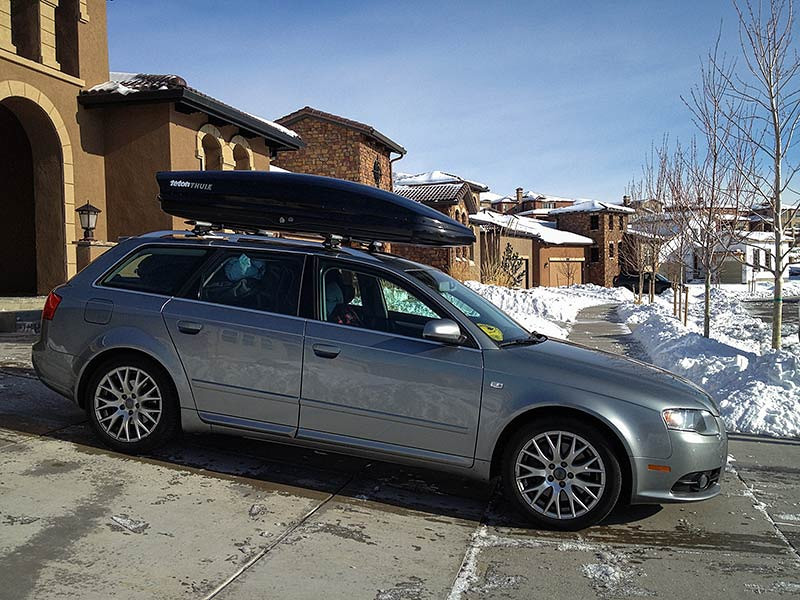 Audi A4 Avant with Thule Box - ready for a move to Alaska! Photo: Kim Olson