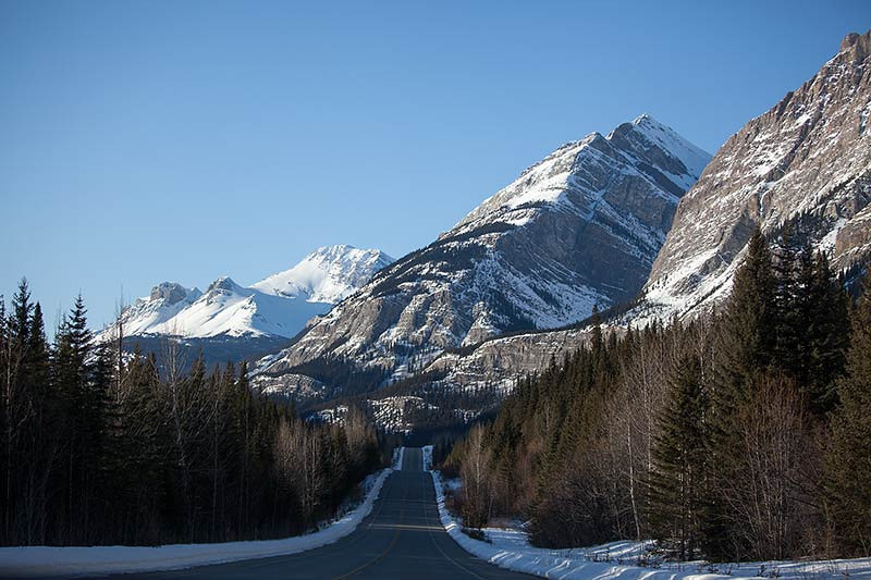 Driving the Icefields Parkway in Canada. (Photo: Kim Olson)