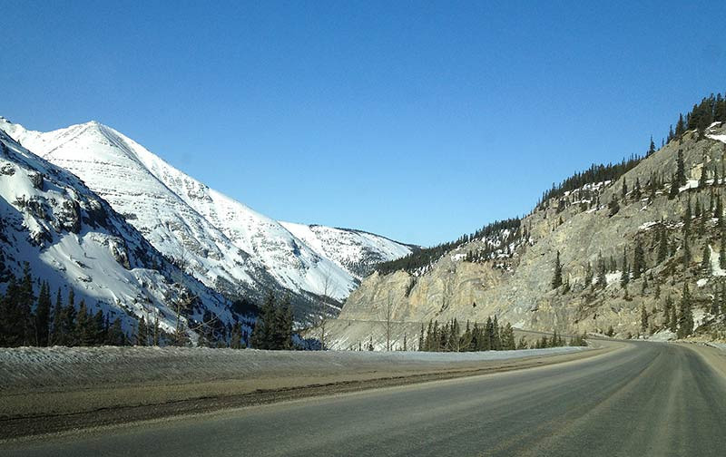 The Canadian Rocky Mountains along the Alaska Highway. (Photo: Kim Olson)