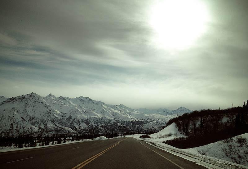 Alaskan mountains along the Glenn Highway. (Photo: Kim Olson)