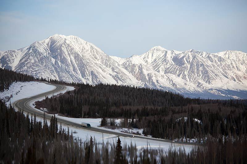 Driving the Alaska Highway in the Yukon Territory, Canada. (Photo: Kim Olson)