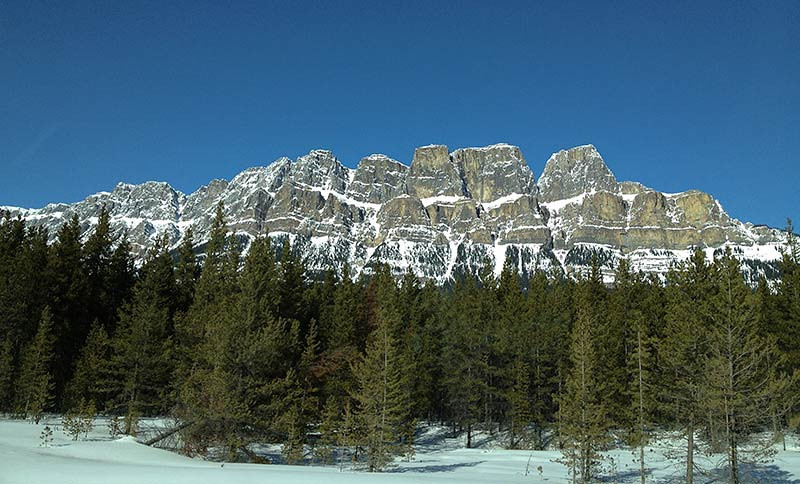 The Canadian Rocky Mountains along the Icefields Parkway. (Photo: Kim Olson)