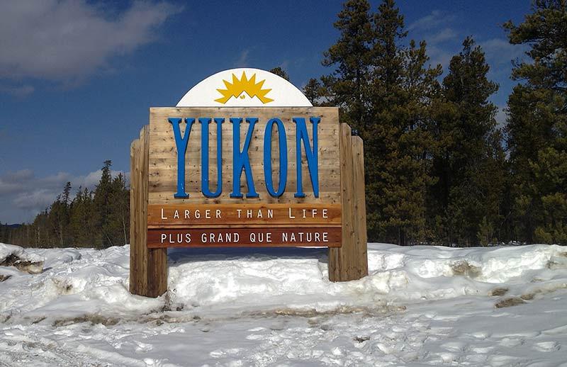 Yukon, Canada border sign. (Photo: Kim Olson)