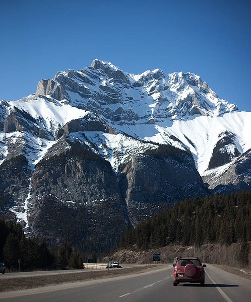Towering Rocky Mountains in Banff National Park, Canada. (Photo: Kim Olson)