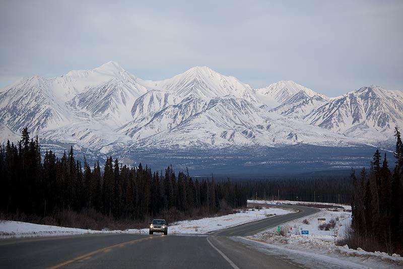 Leaving Whitehorse, Yukon, on the Alaska Highway. (Photo: Kim Olson)