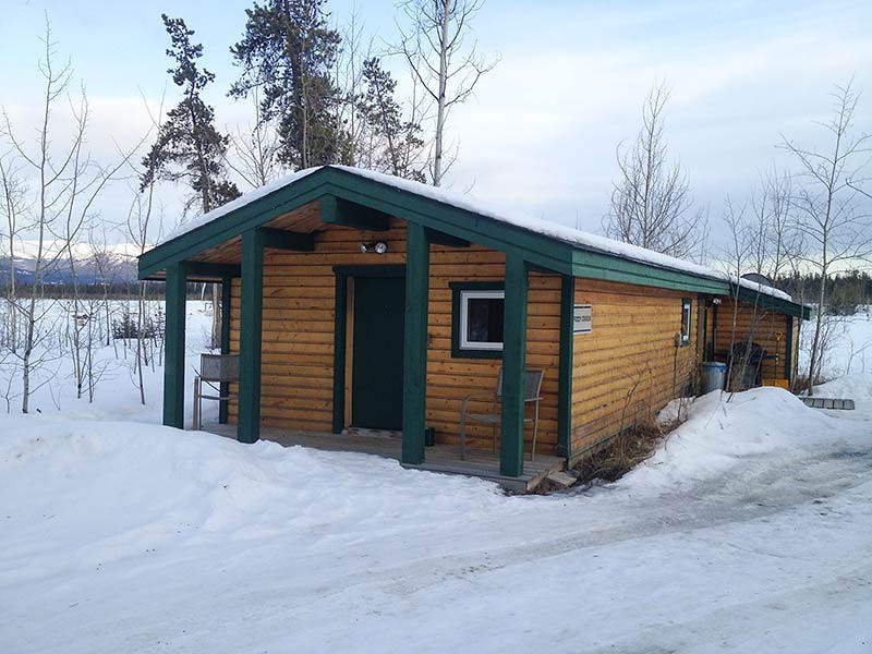 Our log cabin for the night at Sundog Retreat in Whitehorse, Yukon. (Photo: Kim Olson)