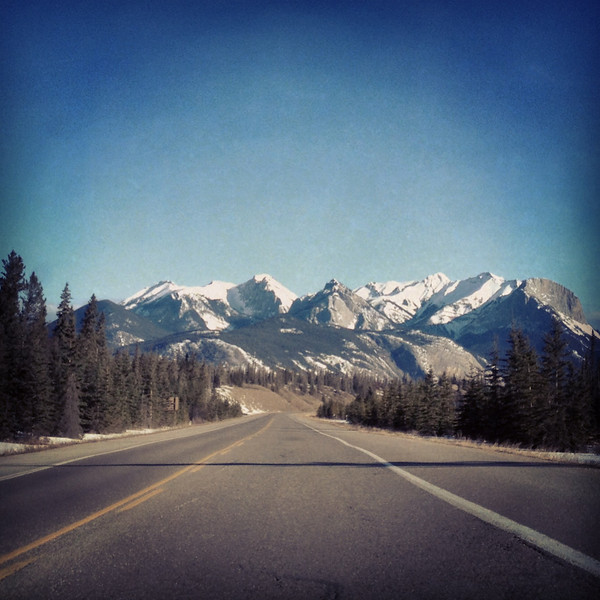 Mountains outside of Jasper, Alberta, Canada. (Photo: Kim Olson)