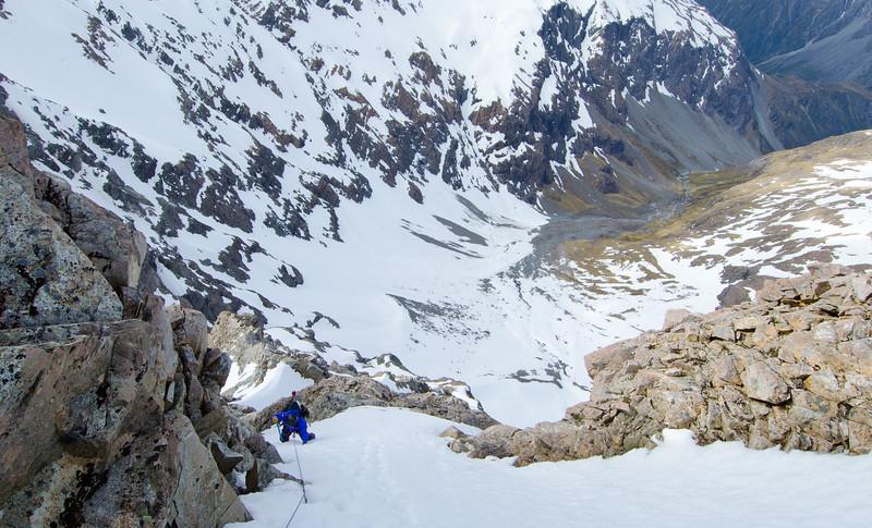 Dave de Castro climbing Central Direct