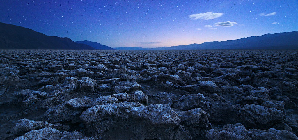 """DEATH VALLEY UPDATE - 26 December 2014<br /> <br /> Devil's Golf Course at Night - Death Valley National Park, California<br /> <br /> Link to original image:  <a href=""""http://www.tom-hill.biz/Galleries/Scenics/California/i-t68GzPJ/A"""">http://www.tom-hill.biz/Galleries/Scenics/California/i-t68GzPJ/A</a><br /> __________<br /> <br /> Just here in Death Valley for a couple of nights.  I haven't been here in more than 10 years.  I can't say much as changed or at least I can't tell much as changed since I was here last.<br /> <br /> This image was shot last night--Christmas Night.  Of course, none of this is visible with our own eyes in real life.  Even with the 1/4 moon, you can't see this much detail in the foreground while still seeing stars as I have here.  I composed this by combining a couple of images taken at different times as it got darker and darker.<br /> <br /> Cheers<br /> <br /> Tom"""