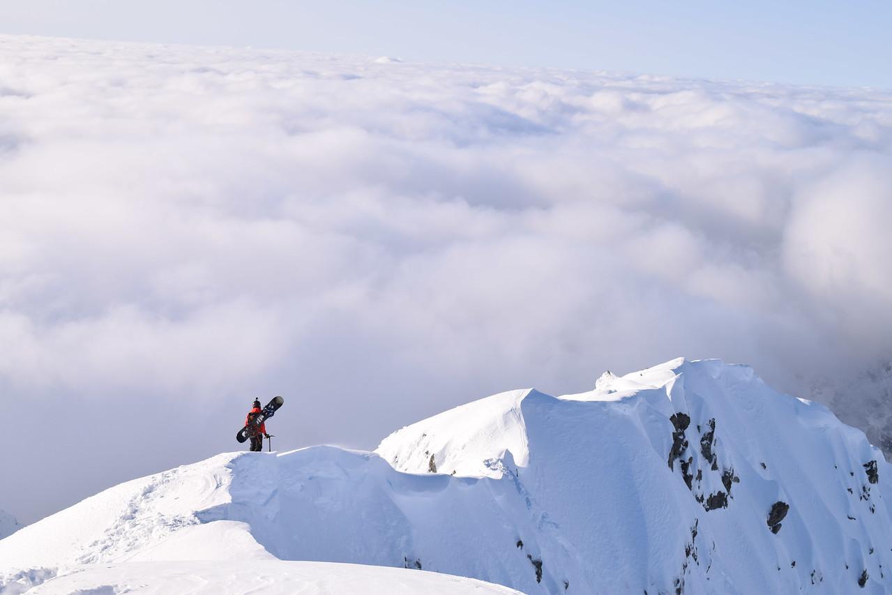 Summit ridge of Mt Armstrong