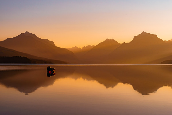 Boat on Lake McDonald