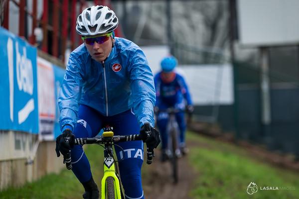Alice Arzuffi (ITA) during the pre-ride at the Cyclo-cross World Championships on January 29, 2016 in Zolder, Belgium. Photo: Matthew Lasala