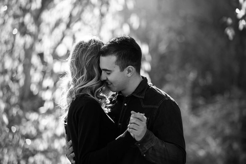 fall engagement session slow dance
