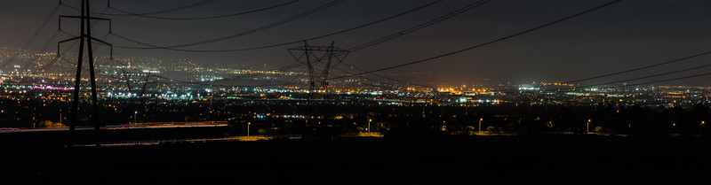 Power Lines and City Lights