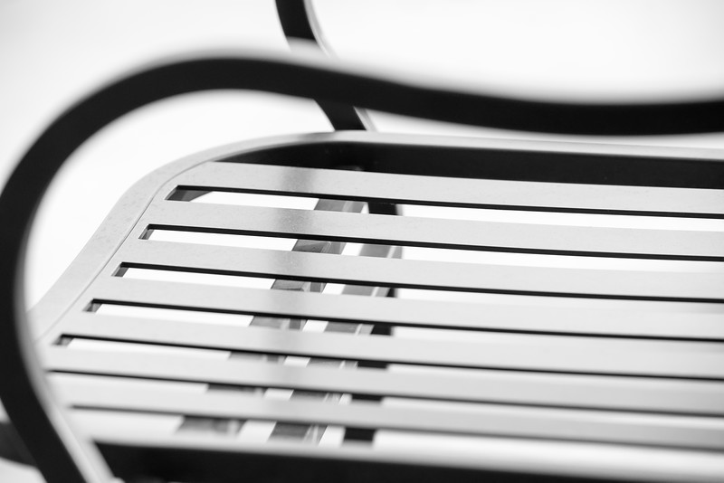 Metal Chair in Black and White