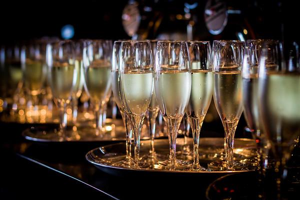 Arty Champagne Shot