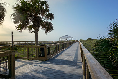 The observation platform is perfect for taking in the gulf view