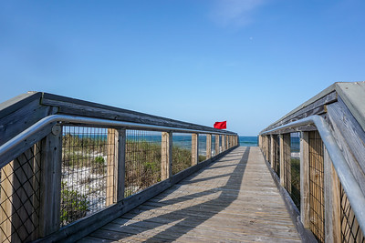 One of the awesome walkways to the beach.