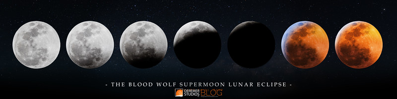 2019 Blood Wolf Moon Lunar Eclipse 017A PANO 48 - Deremer Studios LLC